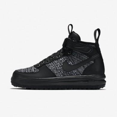 Nike zapatillas para mujer lunar force 1 flyknit workboot negro/blanco/gris azulado/negro