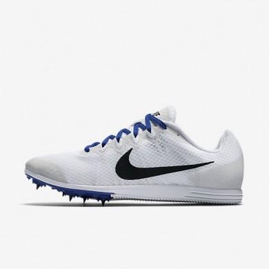 Nike zapatillas unisex zoom rival d 9 blanco/azul carrera/negro