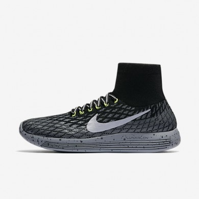 Nike zapatillas para mujer lunarepic flyknit shield negro/gris oscuro/sigilo/plata metalizado
