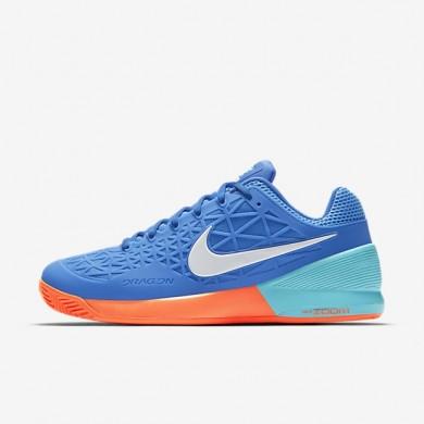 Nike zapatillas para hombre court zoom cage 2 clay azul medio/azul polarizado/hipernaranja/blanco