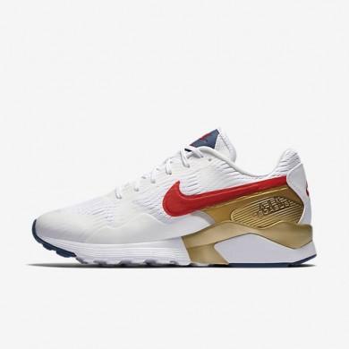 Nike zapatillas para mujer air pegasus '92 blanco/oro metalizado/azul costero/rojo universitario
