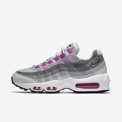 Nike zapatillas para mujer air max 95 og platino puro/gris lobo/hipervioleta/hipervioleta