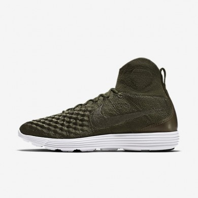 Nike zapatillas para hombre lunar magista ii flyknit caqui militar/caqui militar/blanco/caqui militar
