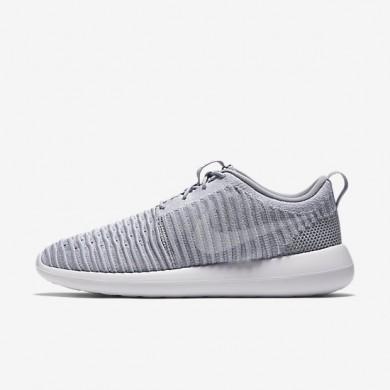 Nike zapatillas para hombre roshe two flyknit gris lobo/verde estadio/blanco