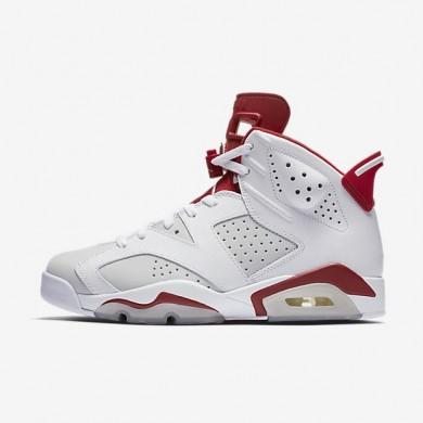 Nike zapatillas para hombre air jordan 6 retro blanco/platino puro/rojo gimnasio