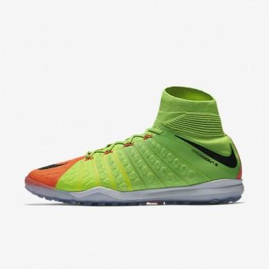 Nike zapatillas para hombre hypervenomx proximo ii dynamic fit tf verde eléctrico/hipernaranja/voltio/negro