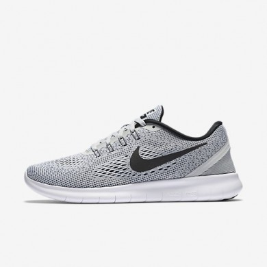 Nike zapatillas para mujer free rn platino puro/platino puro/negro
