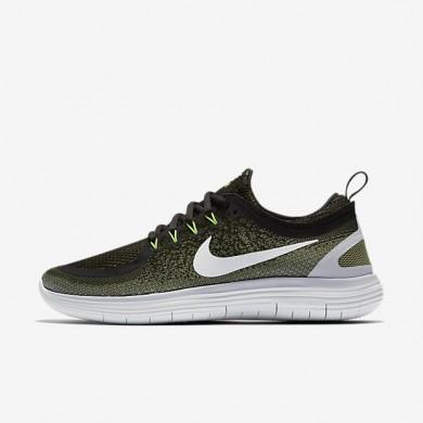 Nike zapatillas para hombre free rn distance 2 verde legión/verde palmera/negro/blanco