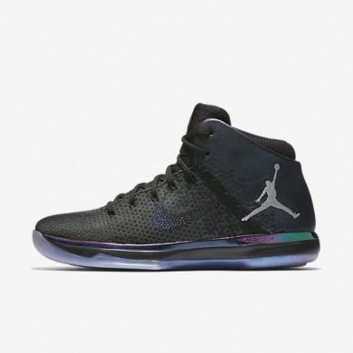Nike zapatillas para hombre air jordan xxxi asw negro/plata metalizado