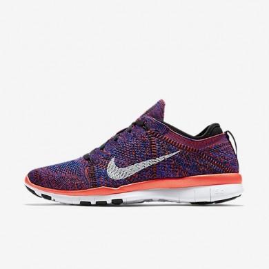 Nike zapatillas para mujer free tr 5 flyknit negro/azul carrera/carmesí brillante/blanco