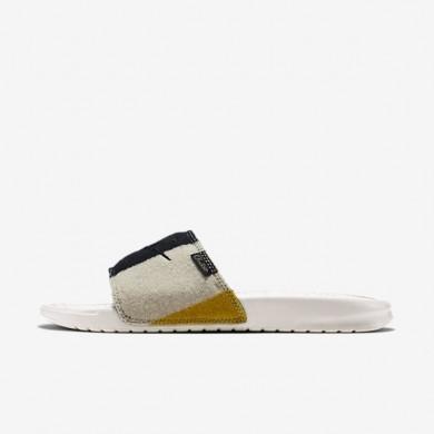 Nike zapatillas para hombre benassi jdi np qs blanco cáscara de huevo/negro