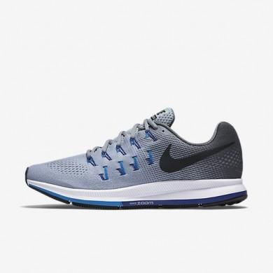 Nike zapatillas para hombre air zoom pegasus 33 gris lobo/gris oscuro/azul foto/negro