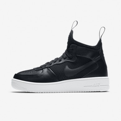 Nike zapatillas para mujer air force 1 ultraforce mid negro/blanco/negro