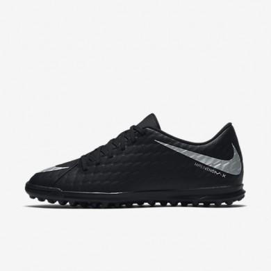 Nike zapatillas para hombre hypervenomx phade 3 tf negro/negro/carmesí total/plata metalizado