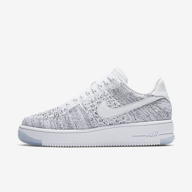 Nike zapatillas para mujer air force 1 flyknit low blanco/negro/blanco