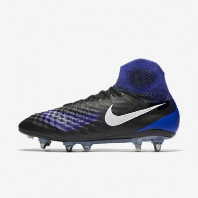 Nike zapatillas para hombre magista obra ii sg-pro negro/azul extraordinario/aluminio/blanco