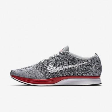 Nike zapatillas para mujer flyknit racer gris lobo/platino puro/gris azulado/blanco