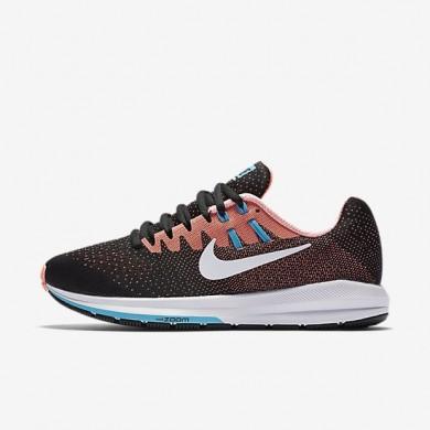 Nike zapatillas para mujer air zoom structure 20 negro/lava resplandor/azul cloro/blanco