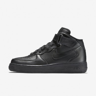 Nike zapatillas para mujer air force 1 mid 07 leather negro/negro