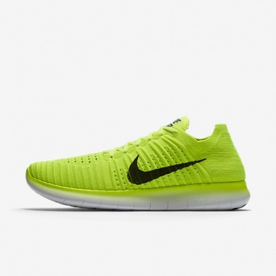Nike zapatillas para hombre free rn flyknit voltio/blanco/negro