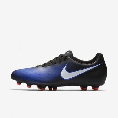 Nike zapatillas para hombre magista ola ii fg negro/azul extraordinario/hipernaranja/blanco
