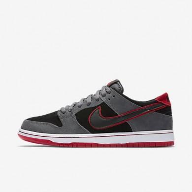 Nike zapatillas para hombre sb dunk low pro ishod wair gris oscuro/rojo universitario/blanco/negro