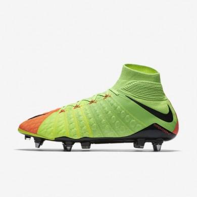 Nike zapatillas para hombre hypervenom phantom 3 df sg-pro verde eléctrico/hipernaranja/voltio/negro