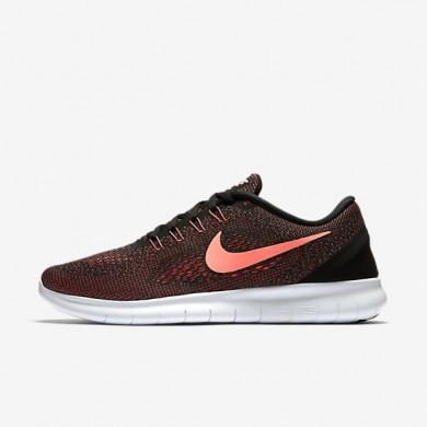 Nike zapatillas para mujer free rn negro/blanco cáscara de huevo/lava resplandor