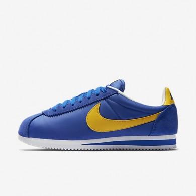 Nike zapatillas unisex classic cortez nylon royal universitario/blanco/amarillo universitario