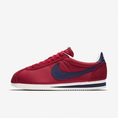 Nike zapatillas para hombre classic cortez nylon aw rojo universitario/vela/azul marino medianoche