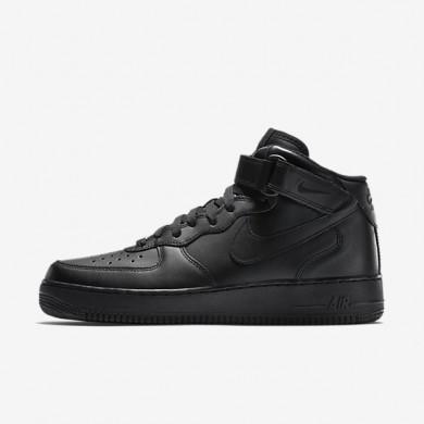 Nike zapatillas para hombre air force 1 mid 07 negro/negro/negro