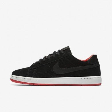 Nike zapatillas para mujer court classic ultra premium negro/rojo acción/blanco cumbre/negro