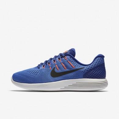 Nike zapatillas para hombre lunarglide 8 azul medio/azul royal intenso/hipernaranja/negro