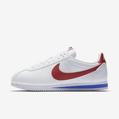Nike zapatillas para hombre classic cortez leather blanco/royal universitario/rojo universitario
