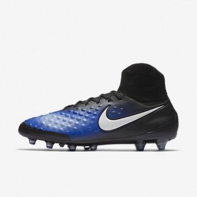 Nike zapatillas para hombre magista orden ii ag-pro negro/azul extraordinario/aluminio/blanco