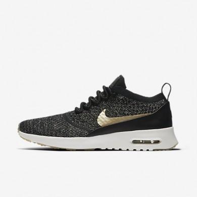 Nike zapatillas para mujer air max thea ultra flyknit metallic negro/marfil/estrella de oro metálico