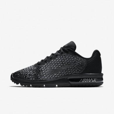Nike zapatillas para hombre air max sequent 2 negro/gris oscuro/gris lobo/hematita metálico