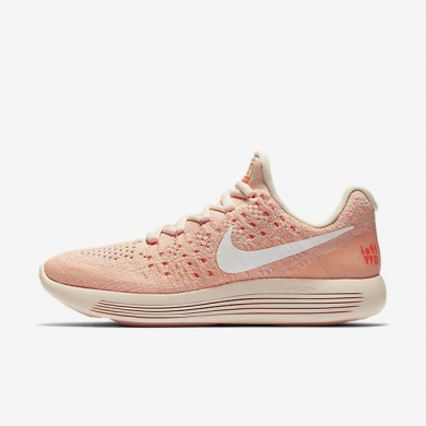Nike zapatillas para mujer lunarepic low flyknit 2 iwd naranja ligero/hipernaranja/resplandor crepuscular/blanco