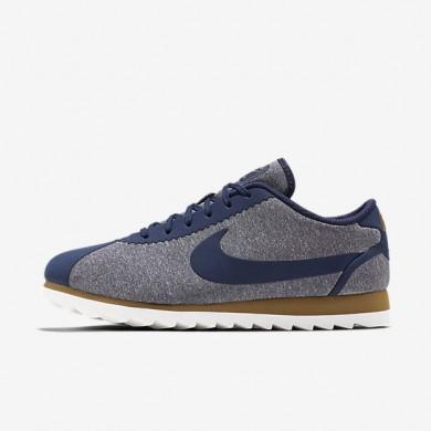 Nike zapatillas para mujer cortez ultra se azul marino medianoche/beige dorado/blanco cumbre/azul marino medianoche